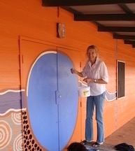 Painting the double doors